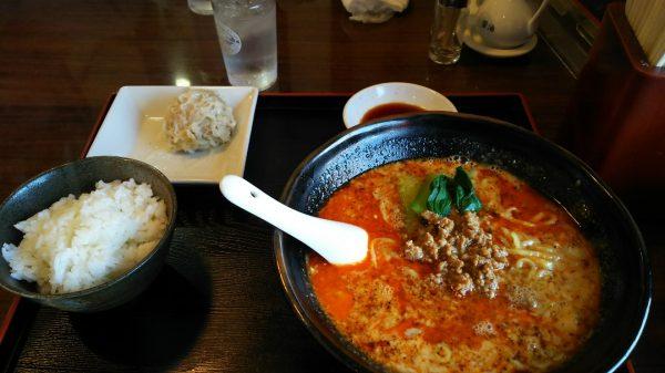 中華料理店 精龍苑 担担麺セット