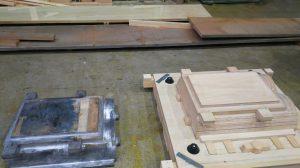 引退の木型と更新用の新作した木型2