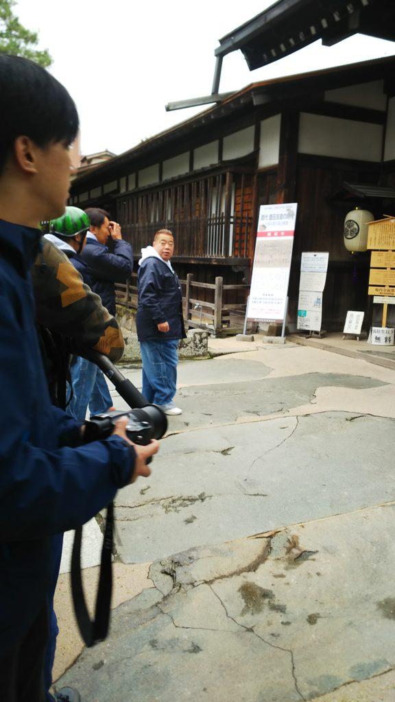 高山にて出川さんに遭遇