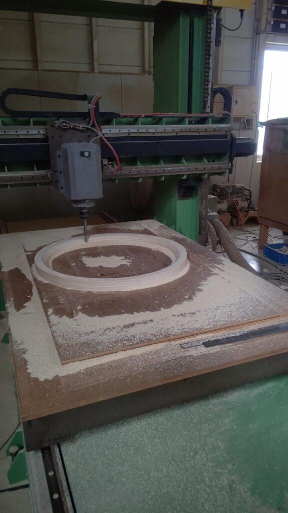 木型を機械加工